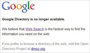 Google kills Google Directory