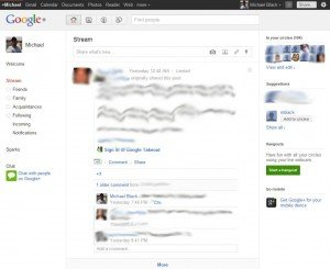 Google plus homepage