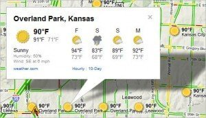 Google Maps Weather Forecast Popout