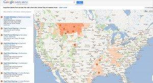 Google Public Alerts Map