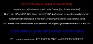 Craigslist goes dark in progest of SOPA