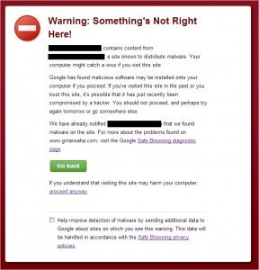 Google's malware warning should be taken very seriously. It will tank your ranking.