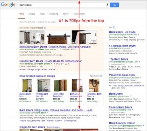 Google puts more self-promotion above organic results.