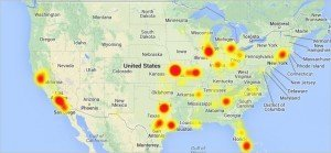 AT&T's outage is the largest one I can remember.