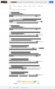 Full results to show the OCR capitalization craziness, redacted to protect my client.