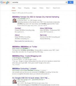 For Posterity: Google Authorship in the search listings.