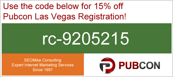 Pubcon coupon code: rc-9205215
