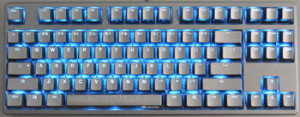 This is an MK Disco TKL with LED Backlighting. This is an example of an 80% board.