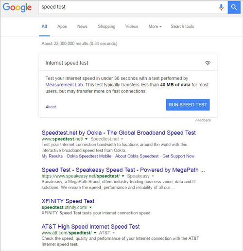 Google showing apps in search results