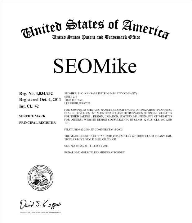 SEOMike is trademarked
