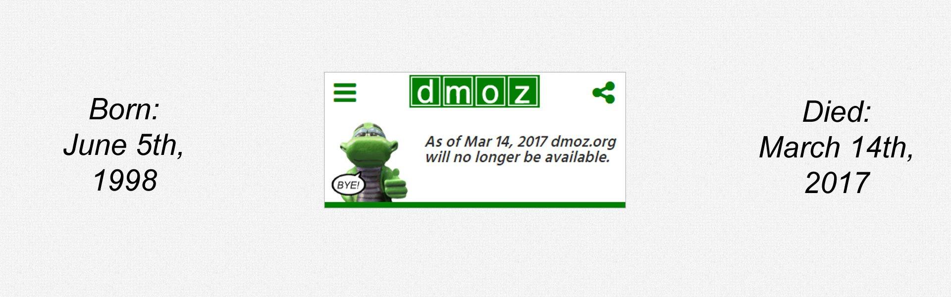 RIP DMOZ
