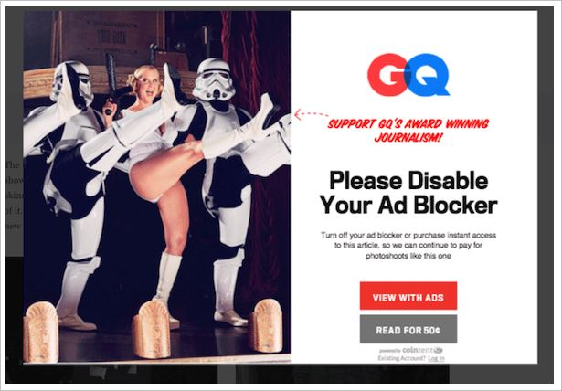 gq wanted to charge ad blocking users