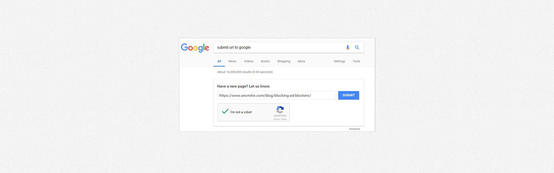 submit a url to google
