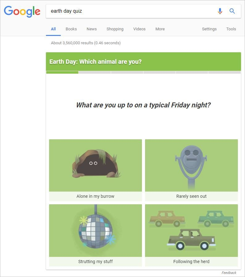 Google Earth Day Quiz