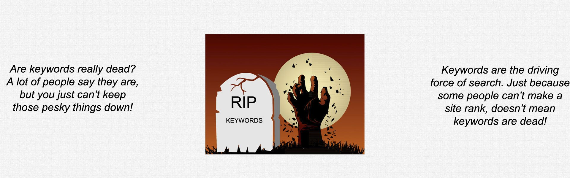 Are keywords really dead?